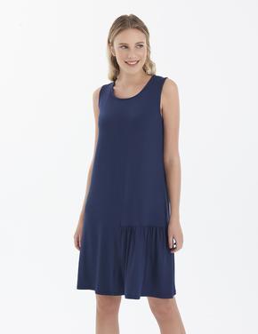 Kadın Lacivert Swing Plaj Elbisesi