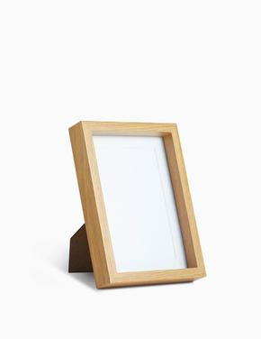 Ev Krem Ahşap Çerçeve 10x15 (4x6 inch)