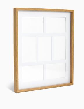 Ev Krem 7 Bölmeli Fotoğraf Çerçevesi 10 x 15cm