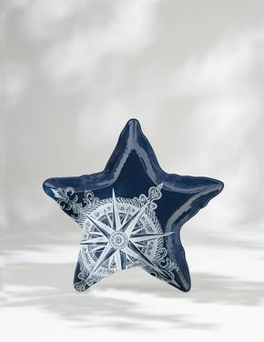 Ev Mavi Deniz Yıldızı Şeklinde Tabak