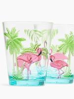 Ev Multi Renk Flamingo Desenli 4'lü Bardak