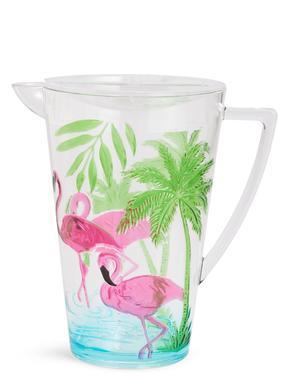 Ev Multi Renk Flamingo Desenli Sürahi