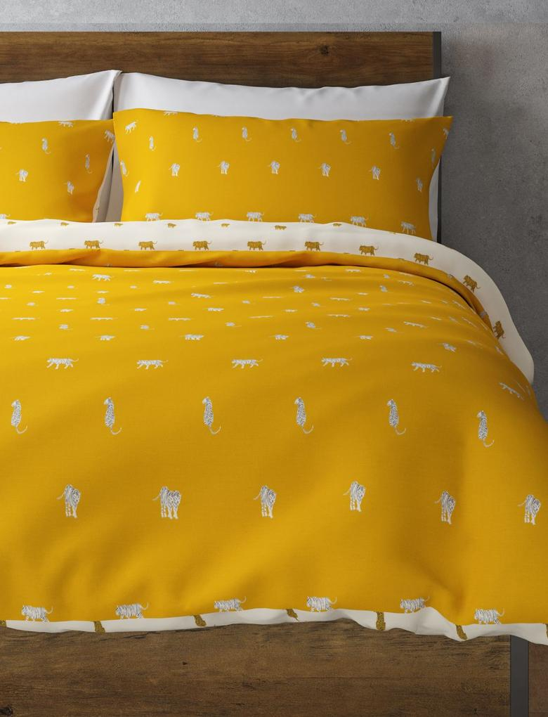 Ev Renksiz Kaplan Desenli Yatak Takımı