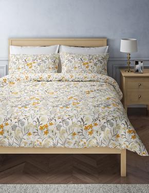 Ev Renksiz Papatya Desenli Yatak Takımı