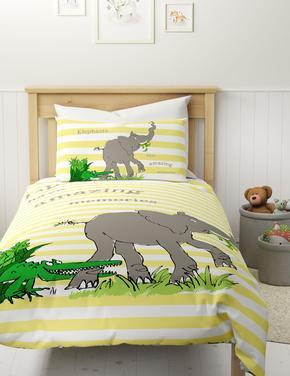 Ev Sarı Roald Dahl™ Fil Desenli Yatak Takımı