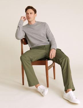 Erkek Yeşil Cepli Kargo Pantolon