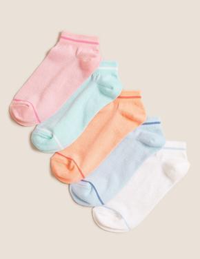 Çocuk Multi Renk 5'li Gökkuşağı Renkli Çorap
