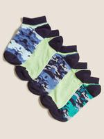 Çocuk Mavi 5'li Kamuflaj Desenli Çorap Seti
