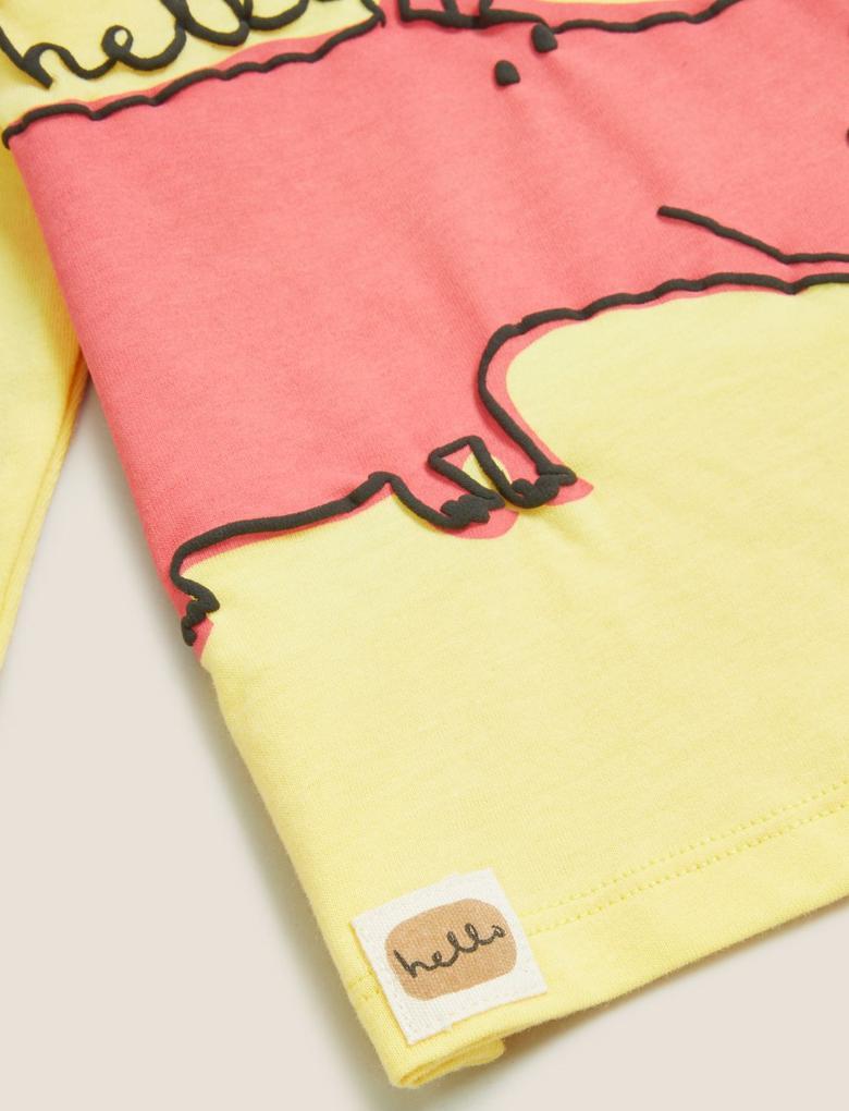 Bebek Sarı Desenli T-Shirt