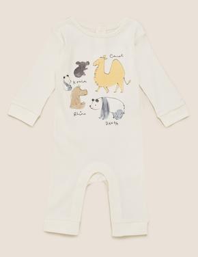 Bebek Beyaz Desenli Tulum