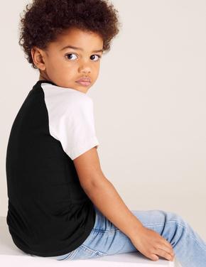 Erkek Çocuk Siyah Joe Cool Baskılı T-Shirt