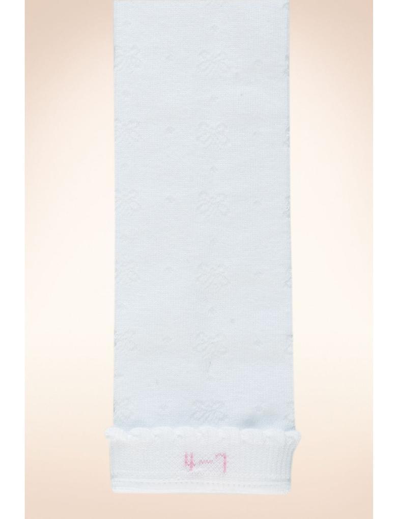 Beyaz 5'li Diz Üstü Çorap Seti