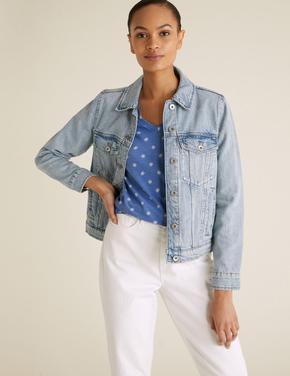 Kadın Mavi Desenli V Yaka T-Shirt