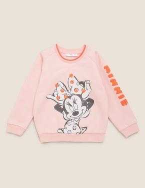 Kız Çocuk Pembe Minnie™ Baskılı Sweatshirt
