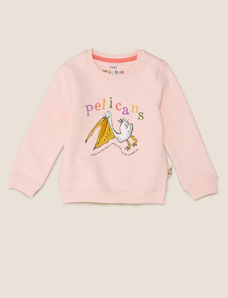 Kız Çocuk Pembe Pelicans Baskılı T-Shirt