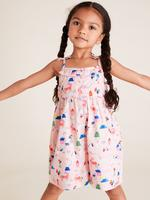 Kız Çocuk Pembe İnce Askılı Salopet Tulum