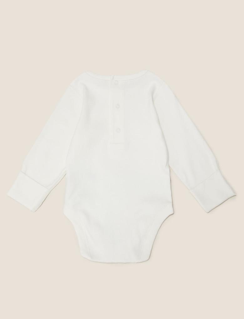 Bebek Beyaz Baskılı Body