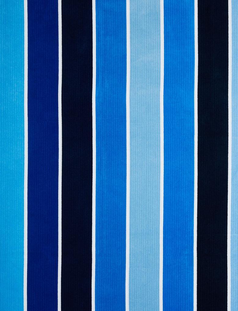 Ev Mavi Çizgili Plaj Havlusu