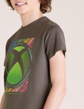Erkek Çocuk Beyaz Xbox Baskılı T-Shirt