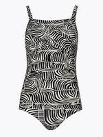 Kadın Siyah Zebra Desenli Mayo