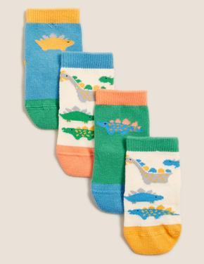Çocuk Mavi Dinozor Desenli Çorap