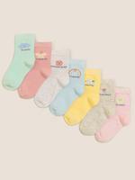 Çocuk Multi Renk 7'li Haftanın Günleri Baskılı Çorap Seti