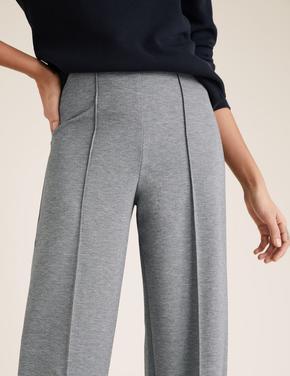 Kadın Gri Relaxed Fit Pantolon