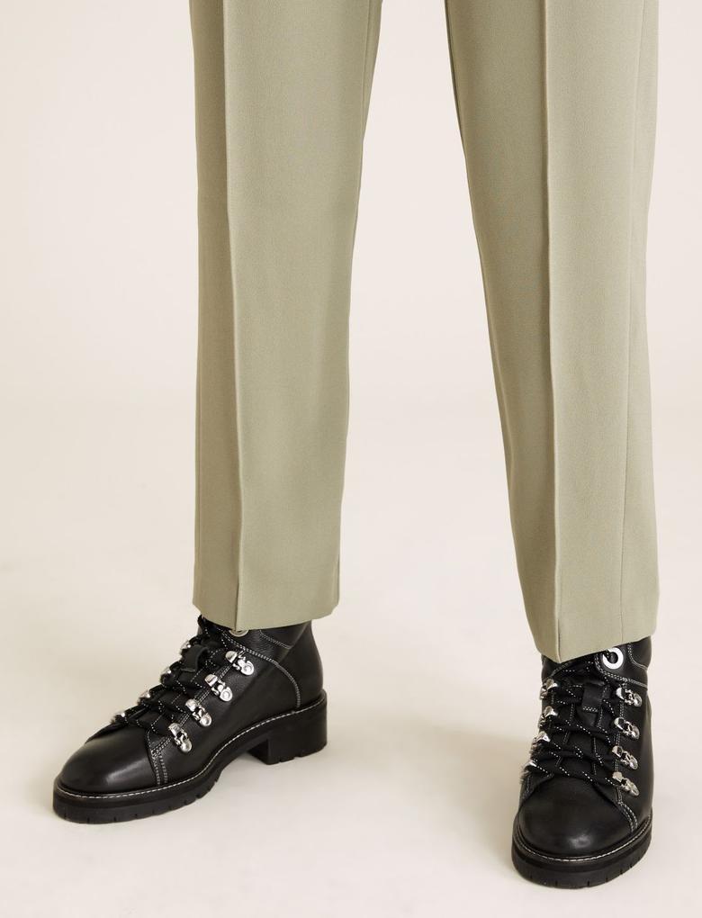 Kadın Yeşil Tapered Ankle GrazerPantolon