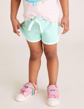 Kız Çocuk Mavi Runner Şort