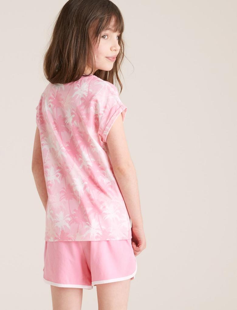 Çocuk Multi Renk 2'li Tie-Dye Baskılı Pijama Takımı