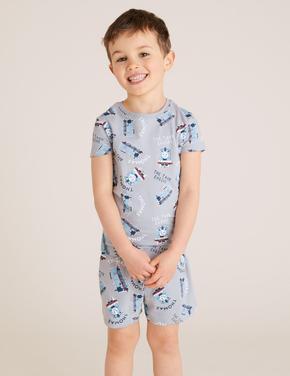 Çocuk Gri Thomas & Friends™ Baskılı Pijama Takımı