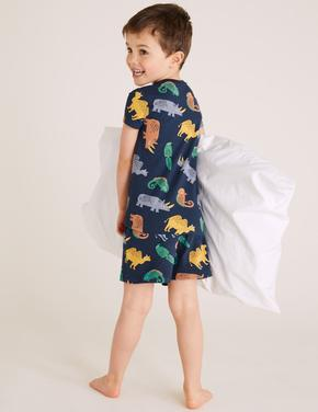 Çocuk Lacivert Iguana Baskılı Pijama Takımı