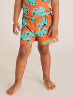 Çocuk Turuncu Desenli Pijama Takımı