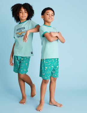 Çocuk Yeşil Harry Potter™ Baskılı  Pijama Takımı