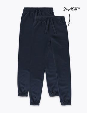 Çocuk Lacivert 2'li Unisex Slim Fit Pantolon Seti