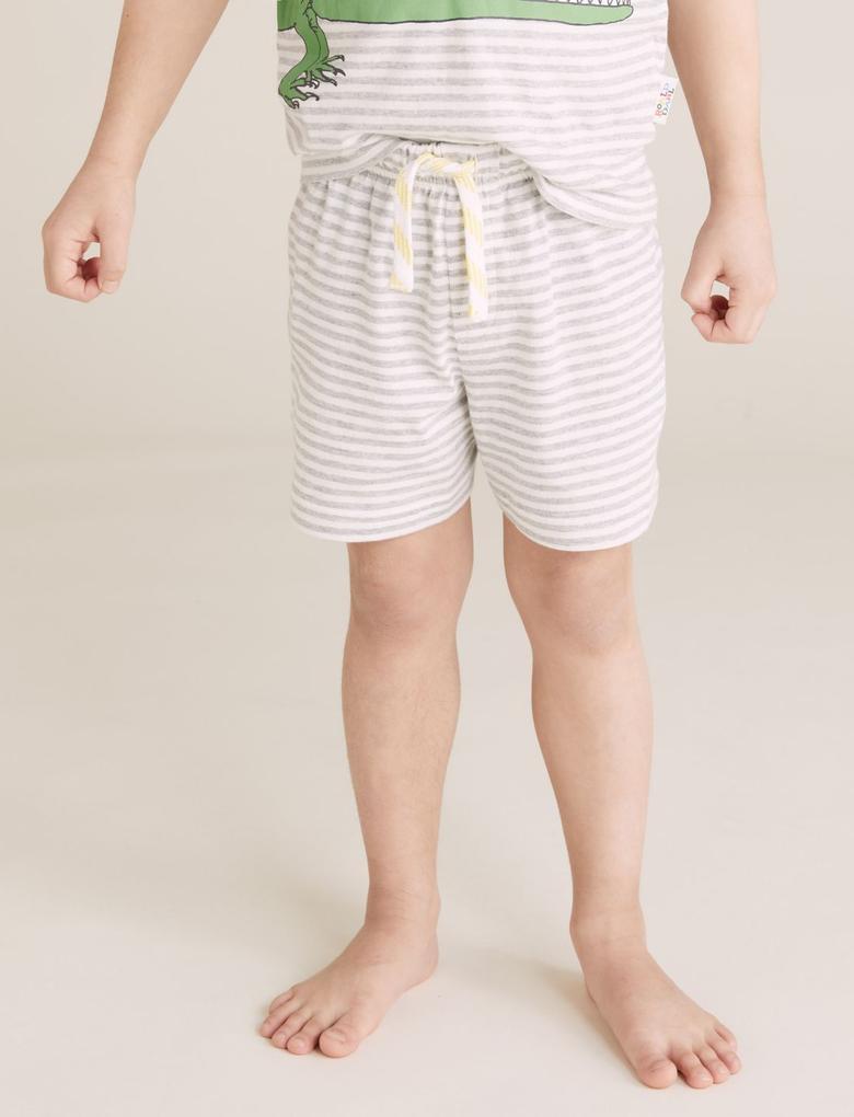 Çocuk Multi Renk Timsah Desenli Pijama Takımı