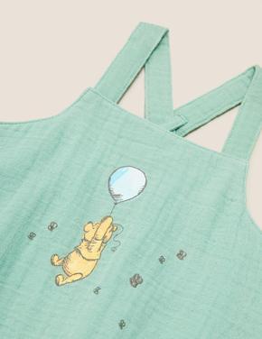 Bebek Yeşil Winnie the Pooh™ Baskılı Tulum