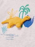 Bebek Gri 3'lü Pamuklu T-Shirt