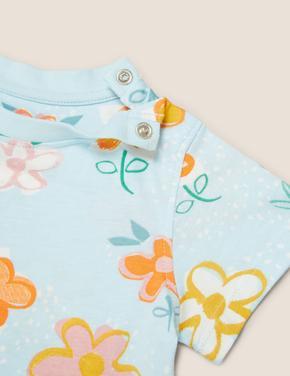 Bebek Gri Organik Pamuklu Köpek Baskılı T-Shirt