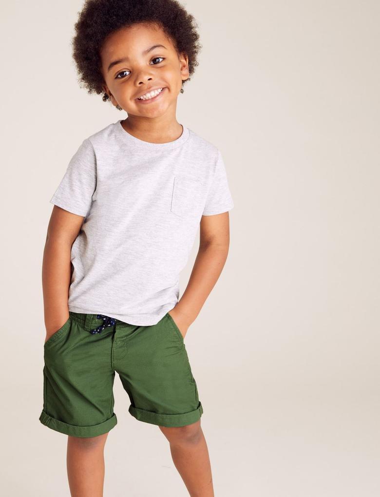 Erkek Çocuk Yeşil 2'li Şort