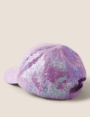 Mor Desenli Şapka