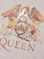 Kadın Gri Pamuklu Slogan Desenli T-Shirt