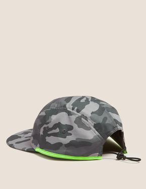 Gri Kamuflaj Desenli Şapka