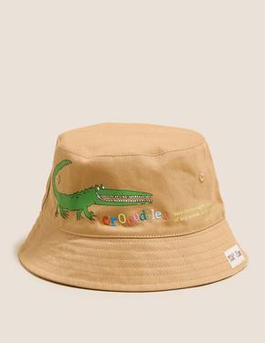 Kahverengi Roald Dahl™ & NHM™Baskılı Şapka