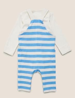 Bebek Mavi 2 'li Mr Men™ Baskılı Tulum Seti