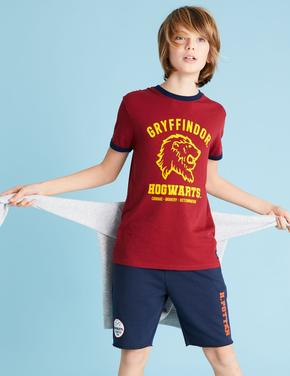Erkek Çocuk Kırmızı Unisex Slogan Baskılı T-Shirt