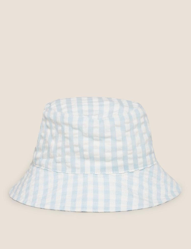 Mavi Çizgili Şapka