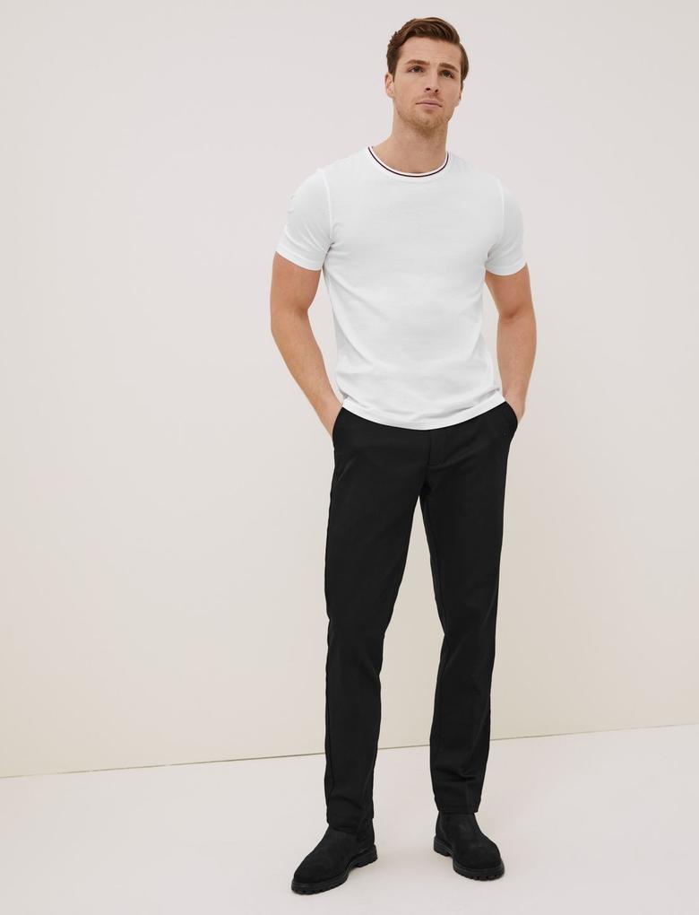 Beyaz Pamuklu T-Shirt