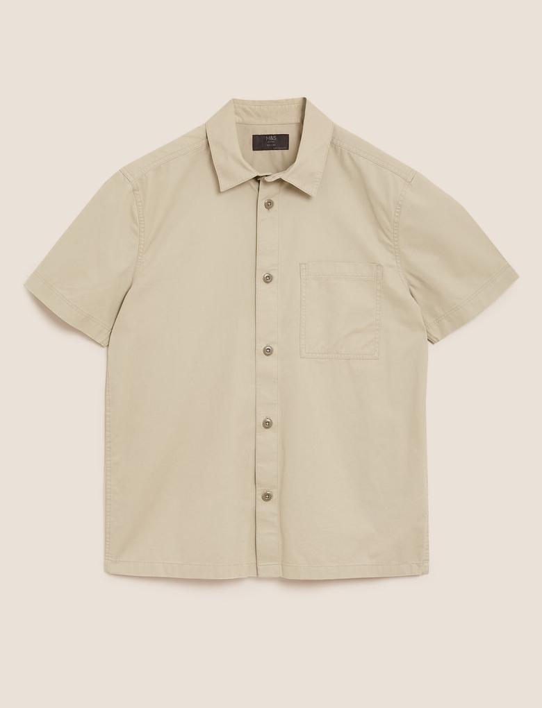 Erkek Gri Pamuklu Gömlek