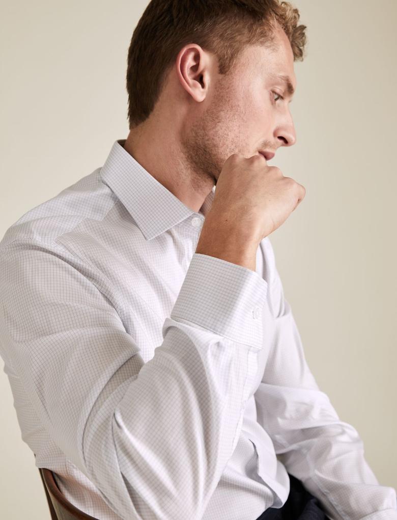 Erkek Beyaz Tailor Fit  Gömlek